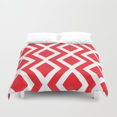 Red Diamond Duvet Cover