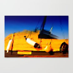 Smeared Boat Canvas Print
