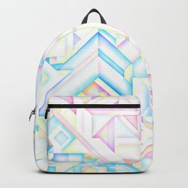 90s Inspired Print // GEOMETRIC PASTEL BRIGHT SHAPES PATTERN GRAPHIC DESIGN Backpack