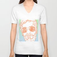 good vibes V-neck T-shirts featuring GOOD VIBES by YTRKMR