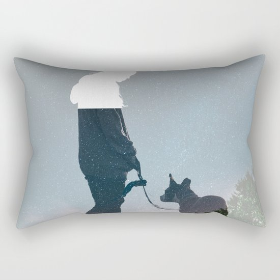 FRIENDSHIP in the space Rectangular Pillow