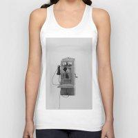 telephone Tank Tops featuring Vintage Telephone by KimberosePhotography