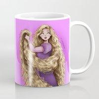 rapunzel Mugs featuring Rapunzel by C. Cassandra