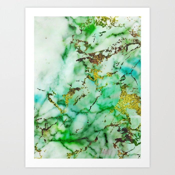 Marble Effect #3 Art Print