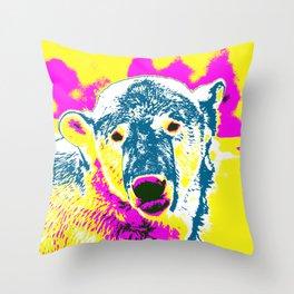 Pop Art Polar Bear 1 Throw Pillow