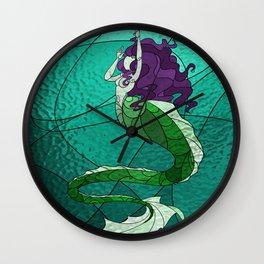 Primeval Mermaid (teal) Wall Clock