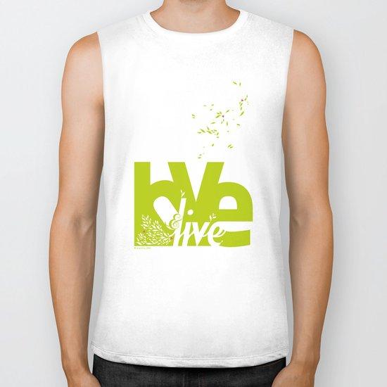 Love & Live (leaves 2) Biker Tank