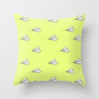 planes Throw Pillows featuring Planes by Darlene Boza