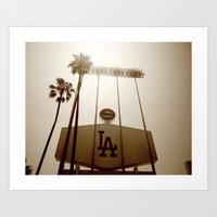 dodgers Art Prints featuring Los Angeles Dodgers  by Brandon Green