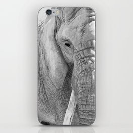 Elephant Photography | Wildlife Art | African | Nature | Animal Photography | Black and White iPhone Skin