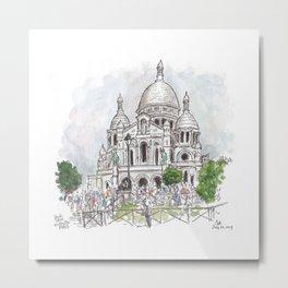 Sacre Coeur Paris Metal Print