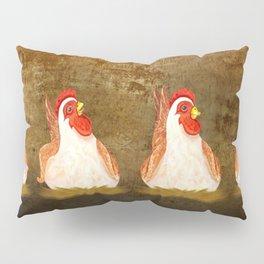 Chickens Joking Around Pillow Sham