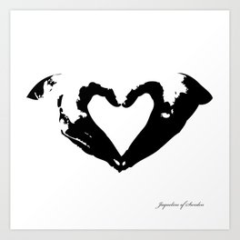 La voix du coeur | 心臟的聲音 Art Print