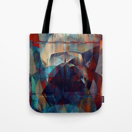 I face every hurdle, with a nervous state of mind Tote Bag