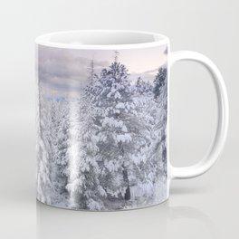 Snow time. Sunset at the mountains Coffee Mug