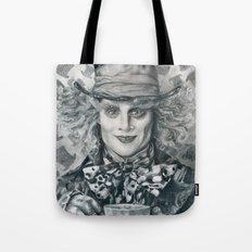 Mad Hatter - Johnny Depp Traditional Portrait Print Tote Bag