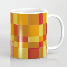 Squares Retro Style light orange Coffee Mug