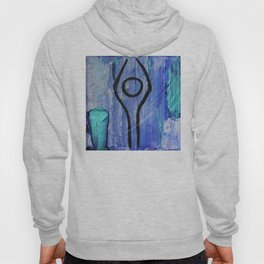 Mountain pose abstract Hoody
