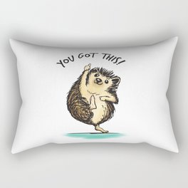 Motivational Hedgehog Rectangular Pillow