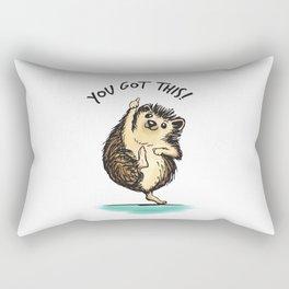 Motivational Hedgehog Rectangular Pillow