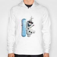 olaf Hoodies featuring SNOW MAN OLAF by BeautyArtGalery