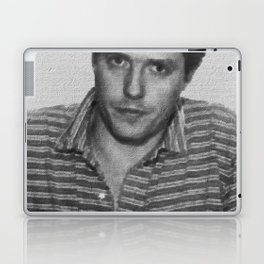 Painting of Hugh Grant Mug Shot 1995 Black And White Mugshot Laptop & iPad Skin