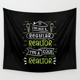 Realtor Selling Houses Real Estate Agent Wall Tapestry