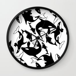 killer whales Wall Clock