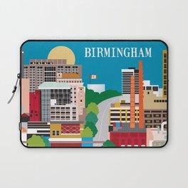 Birmingham, Alabama - Skyline Illustration by Loose Petals Laptop Sleeve