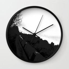 The Train//b&w Wall Clock