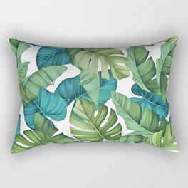 Tropical leaves II Rectangular Pillow