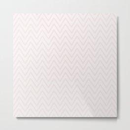 Mauve pink girly elegant geometrical chevron pattern Metal Print
