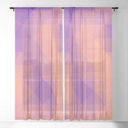Triangulated grid #6 Sheer Curtain