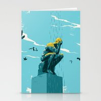 depression Stationery Cards featuring Depression by mark smith