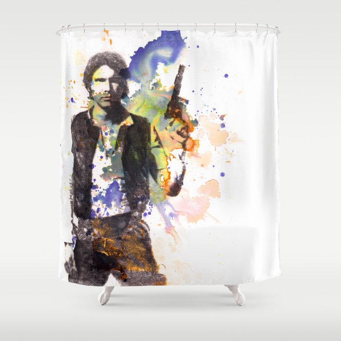 Han Solo From Star Wars Shower Curtain By Idillard