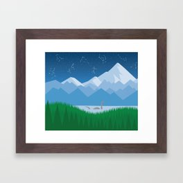 Starlight Nessie Framed Art Print