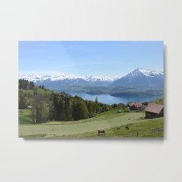 Lake Thun Bernese Oberland Switzerland Metal Print