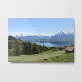 Lake Thun Bernese Oberland Switzerland Metal Print