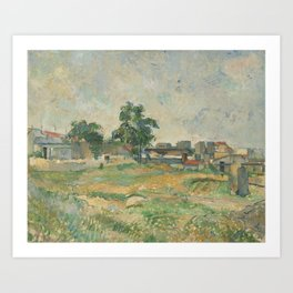 Paul Cézanne - Landscape near Paris Art Print