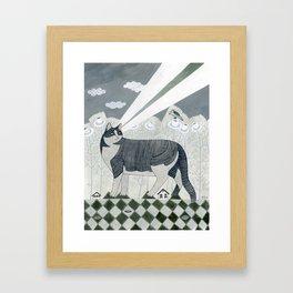 Beaming Cat Framed Art Print