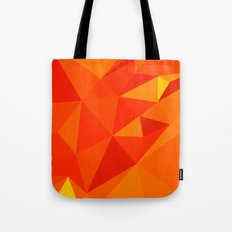 Carrot Orange Abstract Low Polygon Background Tote Bag