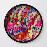 mineral Wall Clocks featuring Mineral by Amy Sia