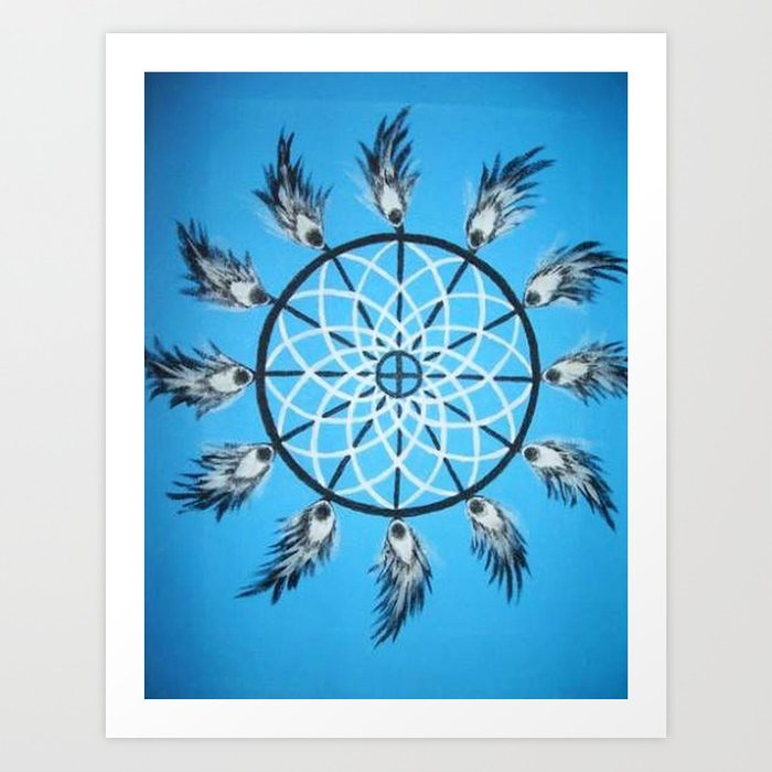 Native american dream catcher / Ameerika indiaanlaste unenäopüüdja Art Print