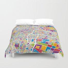 Mendoza Argentina City Street Map Duvet Cover