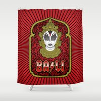 bali Shower Curtains featuring Bali Rocks by Roberlan Borges