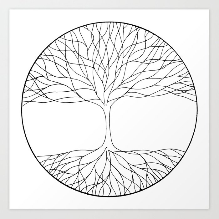 40+ Best Collections Line Drawing Tree Of Life