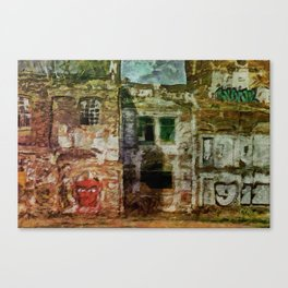 Shut Down, Moved Away Canvas Print