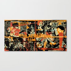 Simulacrum orange Canvas Print