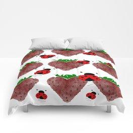 Strawberries And Ladybugs Comforters