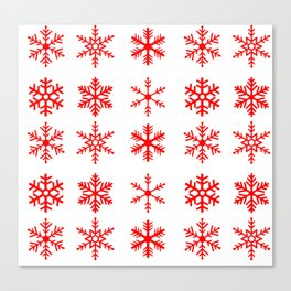 red snowflake seamless pattern Canvas Print